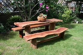 Image Of Rustic Garden Furniture Sets