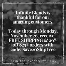 30% Off - Infinite Blends Co Coupons, Promo & Discount Codes ... Etsy Coupon Expiration Date Boat Deals 20 Off Tie Dye Crystals Coupons Promo Discount Codes Sticky Jewelry Code Free Shipping Publix Lulus November 2018 Major Series Pladelphia Eagles Cz Free Digimon Private Sales Canopy Parking Not Working Govdeals Mansfield Ohio Shop Etsy Rei December Displays2go How To Use Steam Game 30 Infinite Blends Co Coupon Journeys