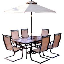 monaco 7 dining set with six c chairs a tile top
