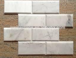 3 8 inch carrara white marble mosaic wall brick tile bathroom