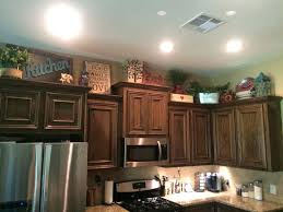 Above Kitchen Cabinet Christmas Decor by Christmas Decorating Ideas For Top Of Kitchen Cabinets Tag