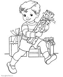 Christmas Gift Kids Printable Coloring Pages
