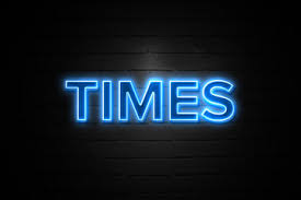 Break Time Neon Sign On Brickwall