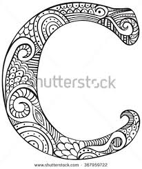 Hand Drawn Capital Letter C In Black