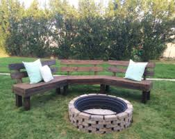 Outdoor Fire Pit Bench DIY