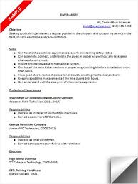 HVAC Technician Resume Sample Examples Pinterest Format Ideas Refrigeration