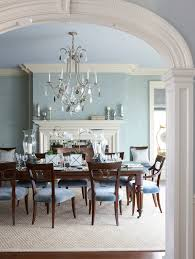 Dining Room Entryway Traditional With Fireplace Mantel Powder Blue Walls