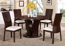 Daria 54 White Round Dining Room Table W 4 Side Chairs