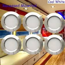 12volt 3w led recessed cabinet lights for rv boat ce cool white