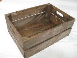 Handmade Wooden Crates Dark Brown FLAT SHIPPING FEES Excellent Quality