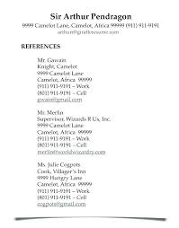 References Resume Template In A For Reference List Free Sample