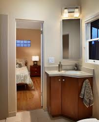 bathroom ideas modern corner bathroom sink with storage facing