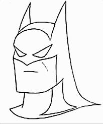 Face Batman Coloring Pages