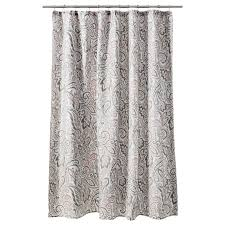 Yellow And Grey Bathroom Window Curtains threshold paisley shower curtain gray coral bathroom