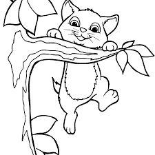 Cat Coloring Pages Kitten Page Of Kittens And Puppies To Print Christmas Full Size