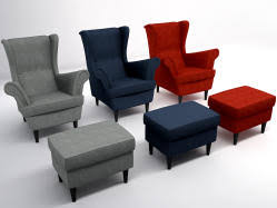 strandmon chair 3d models turbosquid