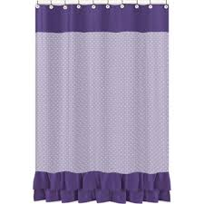 Purple Waterfall Ruffle Curtains by Buy White Ruffle Curtains From Bed Bath U0026 Beyond