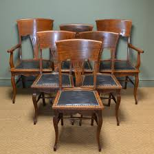 Unusual Set Of Six Edwardian Oak Arts & Crafts Antique Dining Chairs ... Tiger Oak Fniture Antique 1900 S Tiger Oak Round Pedestal With Ding Chairs French Gothic Set 6 Wood Leather 4 Victorian Pressed Spindle Back Circa Room 1900s For Sale At Pamono Antique Ding Chairs Of Eight Chippendale Style Mahogany 10 Arts Crafts Seats C1900 Glagow Antiques Atlas Edwardian Queen Anne Revival Table 8 Early Sets 001940s Extendable With Ball Claw Feet Idenfication Guide