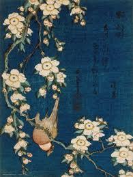 Goldfinch And Cherry Tree By Hokusai Peacock Yanagisawa Kien Print