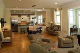 Open Floor Plan Kitchen And Simple Living Room