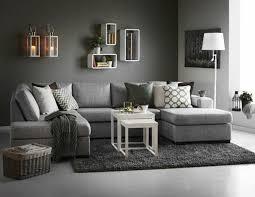 canapé gris design decoration salon moderne gris deco canape d angle scandinave
