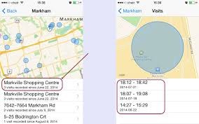 Check where when and how many times you have been to a location