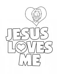 Inspirational Jesus Loves Me Coloring Pages Printables