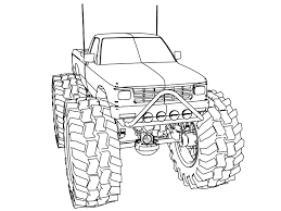 Lifted Ford Truck Coloring Pages | Great Free Clipart, Silhouette ...