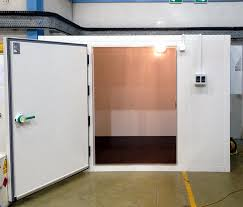 Custom Size Door For Cold Room Storage Of IBCs At A Chemicals Production Facility Read
