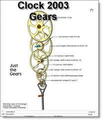 Free Scroll Saw Wooden Gear Clock Plans by Wood Gear Clock Dxf Pdf Woodworking