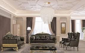 casa padrino luxus barock wohnzimmer set grau schwarz gold 2 sofas 2 sessel 1 couchtisch prunkvolle barock wohnzimmer möbel