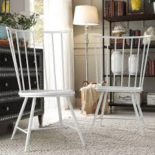 HomeSullivan Walker White Wood And Metal High Back Dining Chair (Set ...
