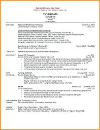 Best Nursing Resume Template Nice New Grad Photos Bsc Format Free Download