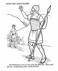 David The Giant Slayer In Story Of King Saul Coloring Page
