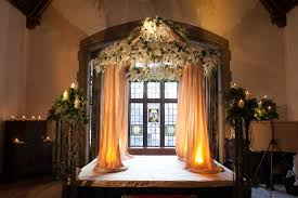 Indoor Wedding Ceremony Floral Backdrops Chuppahs Arches NJ Planner
