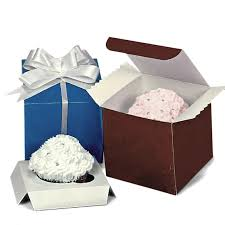 One Standard Cupcake Tuck Top Boxes