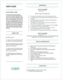 Accounting Assistant Resume Inspirational Title Clerk Of