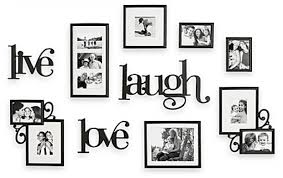 Live Love Laugh Picture Frame Set 10 Piece Wall Decor Various Sizes WallVerbs