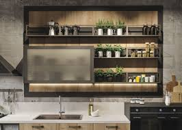 Witching Rustic Industrial Kitchen Cabinets With Black Color