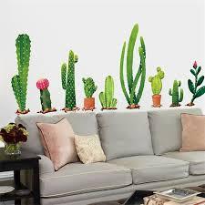 großhandel originalität topfpflanze wandaufkleber kaktus schlafzimmer wohnzimmer hintergrund autohesion dekoration wandbild wasserdicht tapete 3 5ss