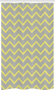 abakuhaus duschvorhang badezimmer deko set aus stoff mit haken breite 120 cm höhe 180 cm modern gelb grau zig zag kaufen otto