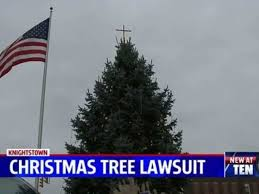 The Tree With Cross On Top In Town Square Knightstown Ind Screenshot WTTV