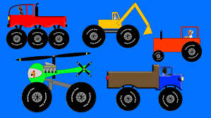 Kids Monster Trucks And Vehicles - Colors Numbers Letters
