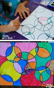 Watercolor Circle Art