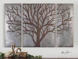 Uttermost Winter View Rustic Tree Mirror Set 3