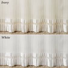 Box Pleat Bed Skirt by Formal Pleated Voile Bedskirts Two Lengths