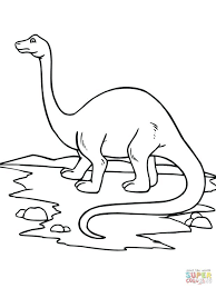 Free Printable Cute Dinosaur Coloring Pages Baby Click View Train Brontosaurus Realistic
