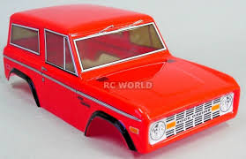 100 Tamiya Truck Rc BODY SHELL 110 FORD BRONCO 252mm For CC01 RED RC