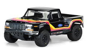 100 Traxxas Trucks 1979 Ford F150 Race Truck Clear Body For SlashSC10 Hobby