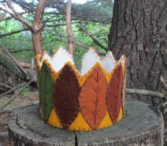 Waldorf Maryland Pumpkin Patch by Waldorf Autumn Leaf Crown Handmade With Wool Felt 45 00 Via
